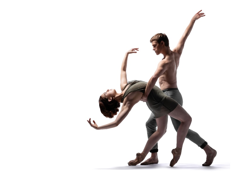 Brennan Wall and Ian Buchanan in a powerful pose full of counter balance, photo by Chris Hardy