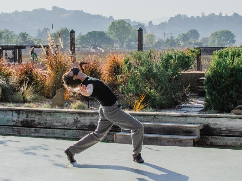 Ian dancing in Gwen Smith's backyard. Photo by Maggie Carey