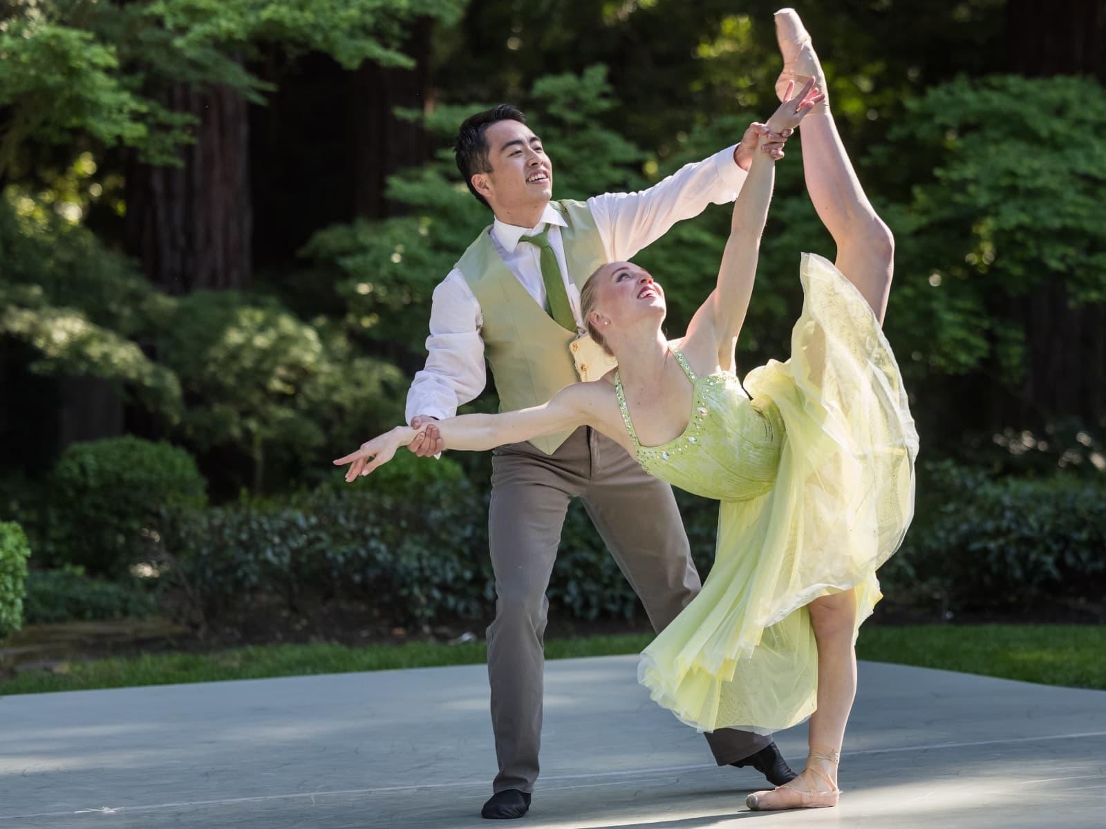 Lauren dancing with Meng.