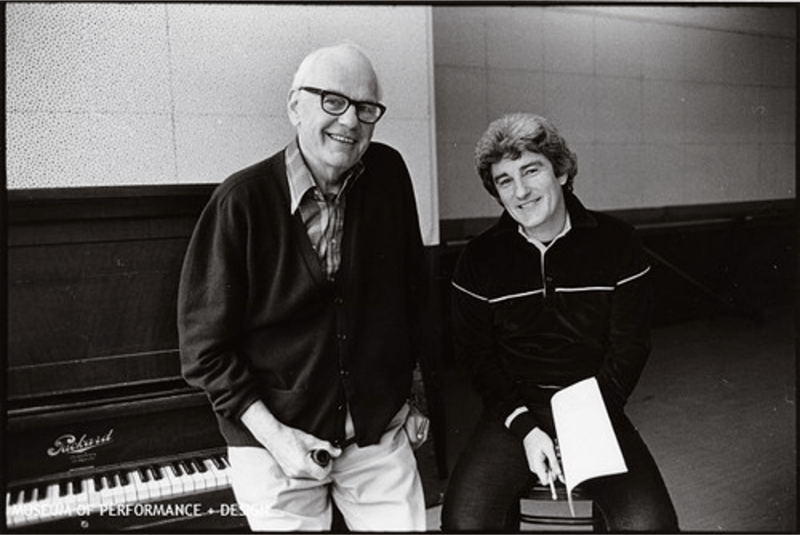 Lew Christiansen and Michael Smuin at a piano