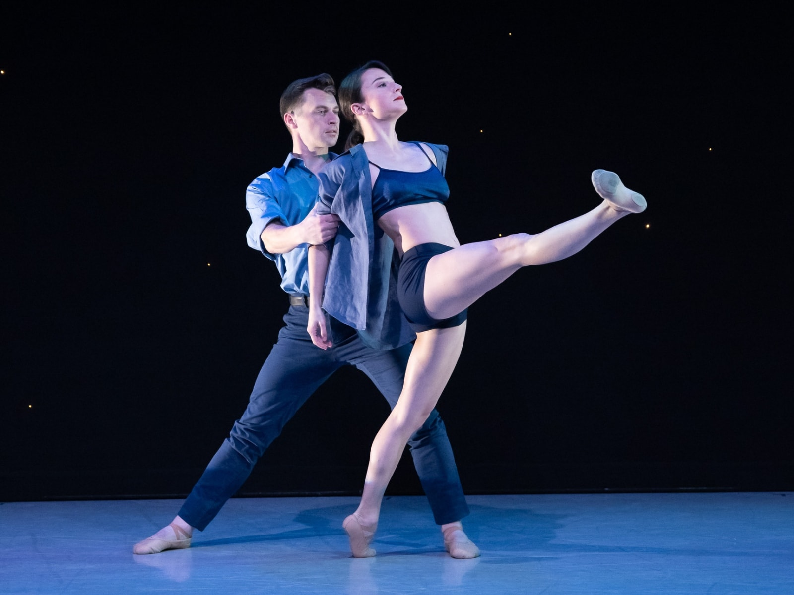 Terez and John dancing together.